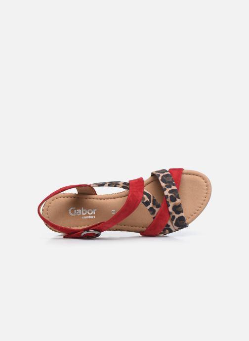 Sandali e scarpe aperte Gabor DARYA Rosso immagine sinistra