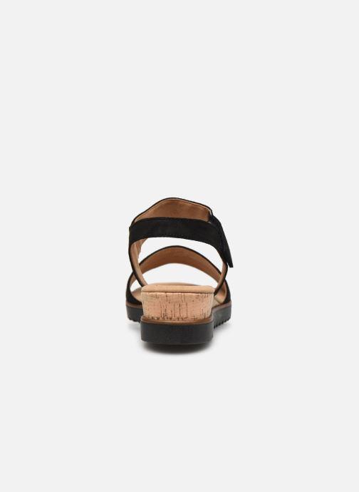 Sandales et nu-pieds Gabor NOUR Noir vue droite