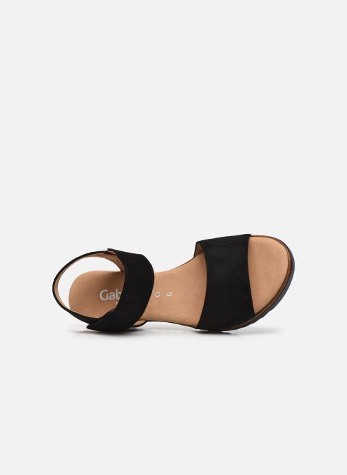 Sandales et nu-pieds Gabor NOUR Noir vue gauche