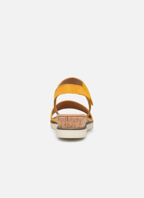 Sandales et nu-pieds Gabor NOUR Jaune vue droite