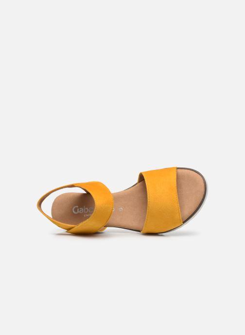 Sandales et nu-pieds Gabor NOUR Jaune vue gauche