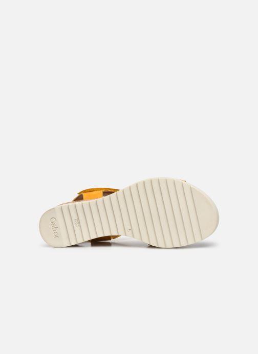 Sandales et nu-pieds Gabor NOUR Jaune vue haut