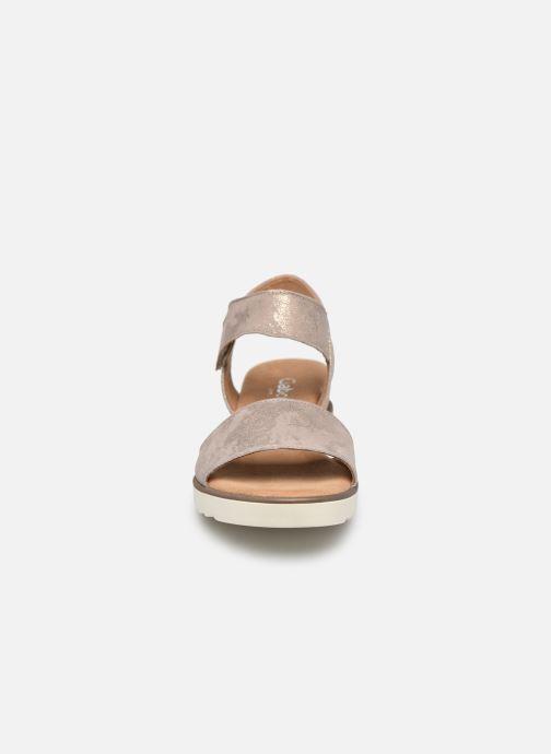 Sandalen Gabor NOUR grau schuhe getragen