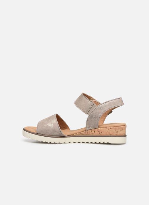 Sandales et nu-pieds Gabor NOUR Gris vue face