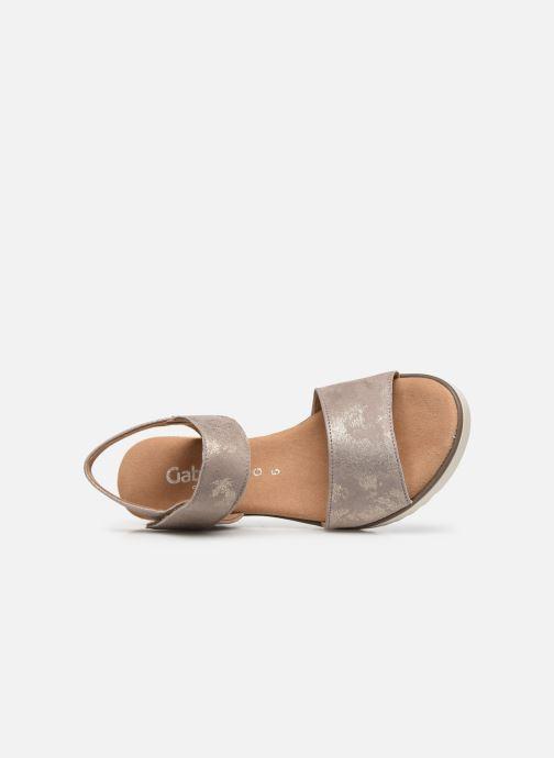 Sandales et nu-pieds Gabor NOUR Gris vue gauche