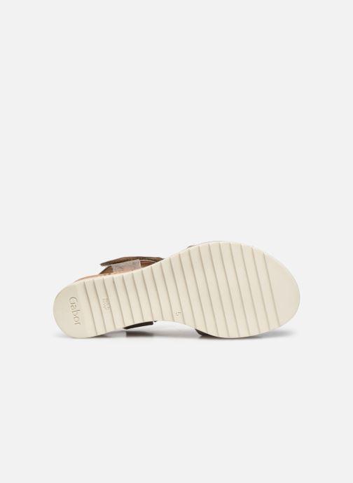 Sandales et nu-pieds Gabor NOUR Gris vue haut