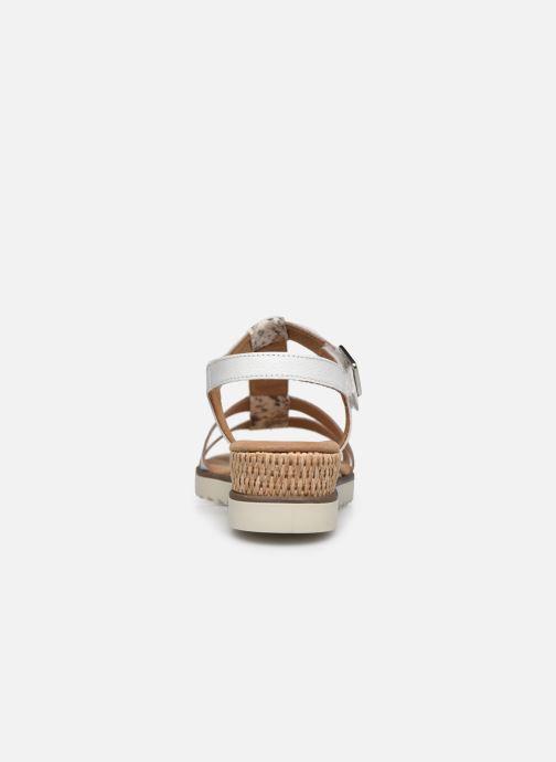 Sandales et nu-pieds Gabor SHIRAZE Blanc vue droite