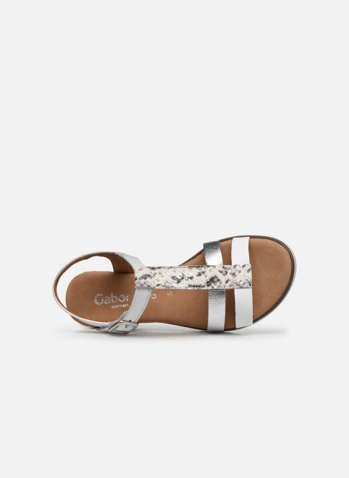 Sandales et nu-pieds Gabor SHIRAZE Blanc vue gauche
