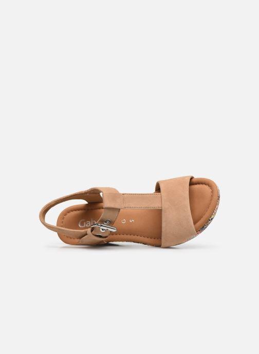 Sandali e scarpe aperte Gabor SOHEILA Beige immagine sinistra