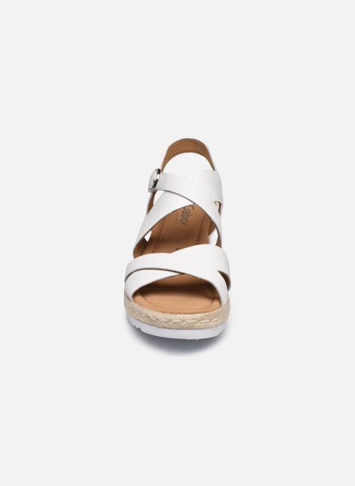 Sandales et nu-pieds Gabor DARA Blanc vue portées chaussures