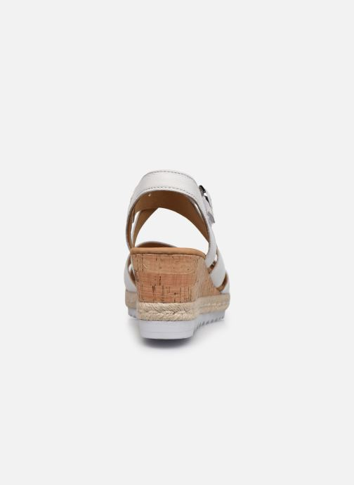 Sandales et nu-pieds Gabor DARA Blanc vue droite