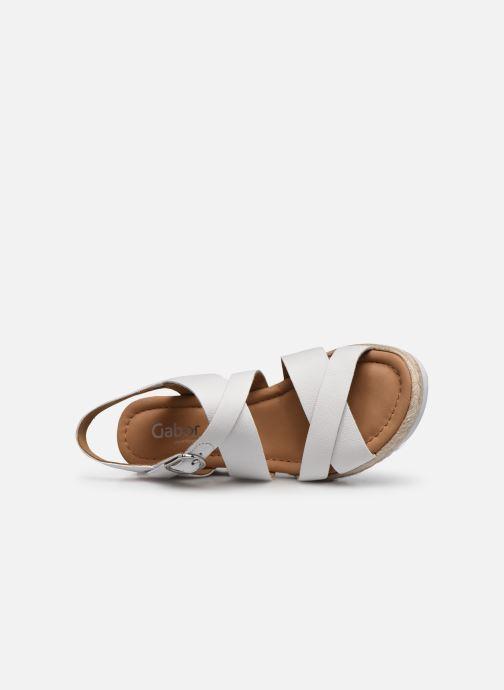 Sandales et nu-pieds Gabor DARA Blanc vue gauche