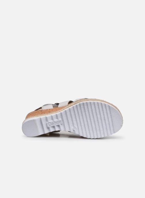 Sandales et nu-pieds Gabor DARA Blanc vue haut