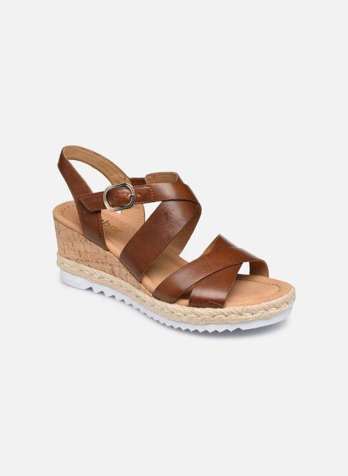 Sandales et nu-pieds Gabor DARA Marron vue détail/paire