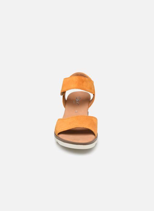 Sandalen Gabor FARAH orange schuhe getragen