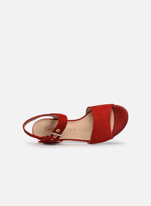 Sandales et nu-pieds Gabor MAHINE Rouge vue gauche