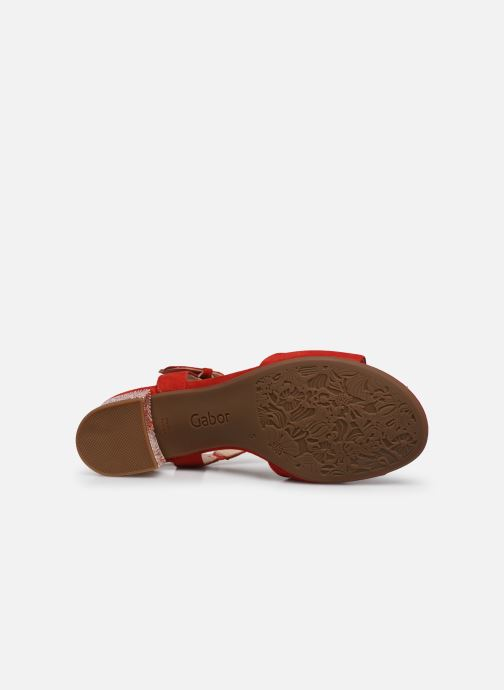 Sandales et nu-pieds Gabor MAHINE Rouge vue haut
