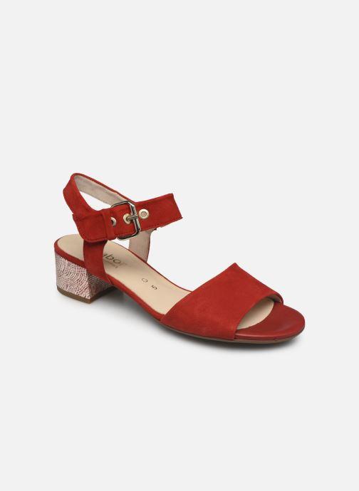 Sandales et nu-pieds Gabor MAHINE Rouge vue détail/paire