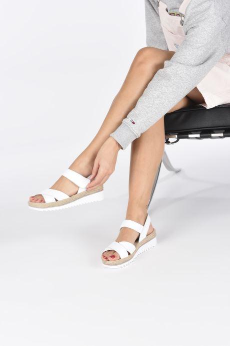Sandales et nu-pieds Gabor MAONA Blanc vue bas / vue portée sac