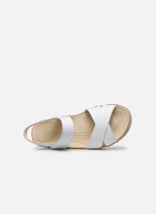 Sandales et nu-pieds Gabor MAONA Blanc vue gauche