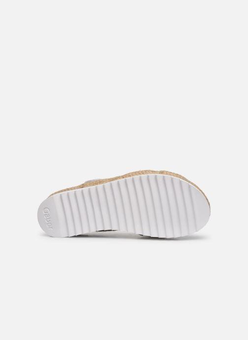 Sandales et nu-pieds Gabor MAONA Blanc vue haut