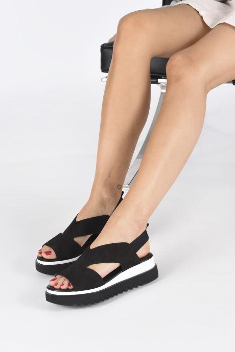 Sandalen Gabor HAINA schwarz ansicht von unten / tasche getragen