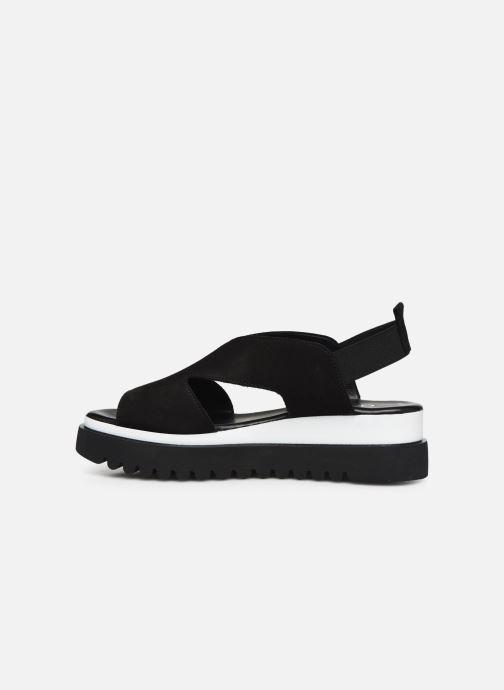 Sandales et nu-pieds Gabor HAINA Noir vue face