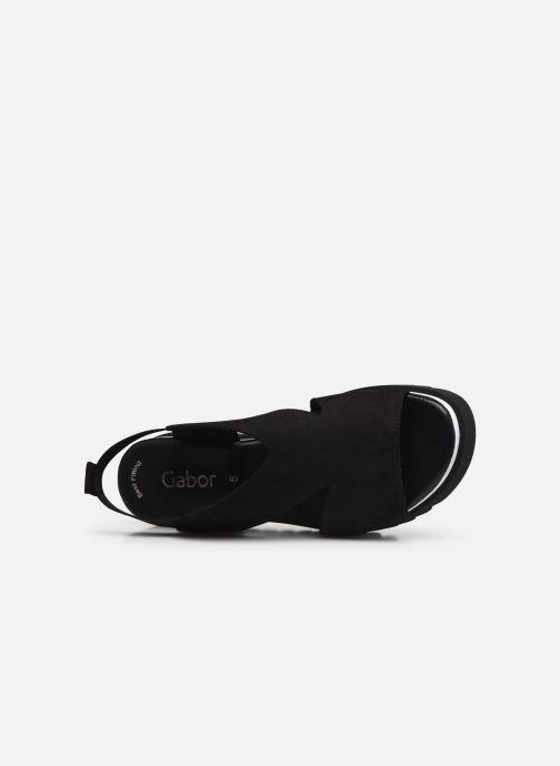 Sandales et nu-pieds Gabor HAINA Noir vue gauche