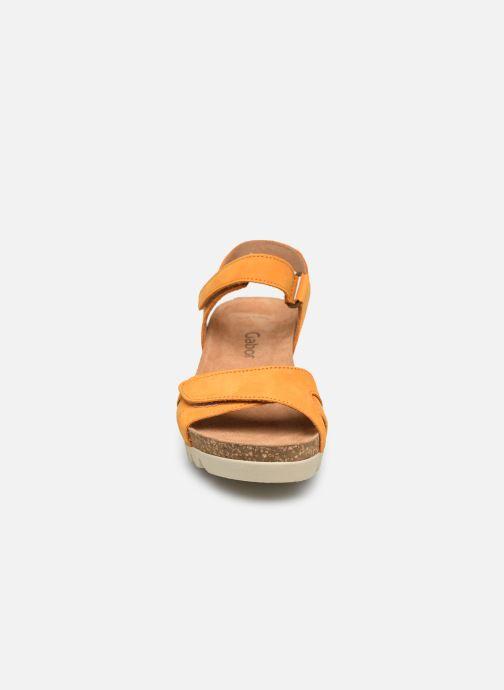 Sandalen Gabor MAIMA orange schuhe getragen