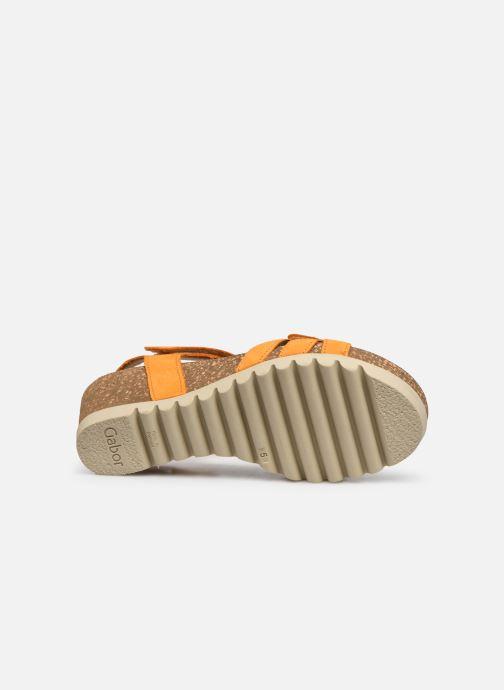 Sandales et nu-pieds Gabor MAIMA Orange vue haut