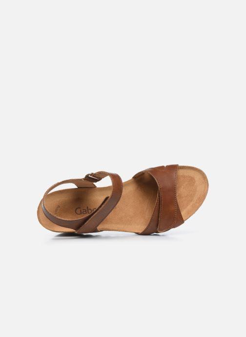 Sandales et nu-pieds Gabor MAIMA Marron vue gauche
