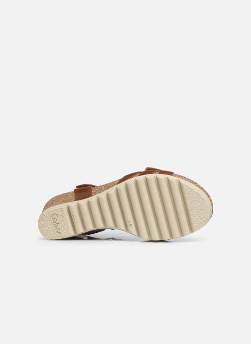 Sandales et nu-pieds Gabor MAIMA Marron vue haut