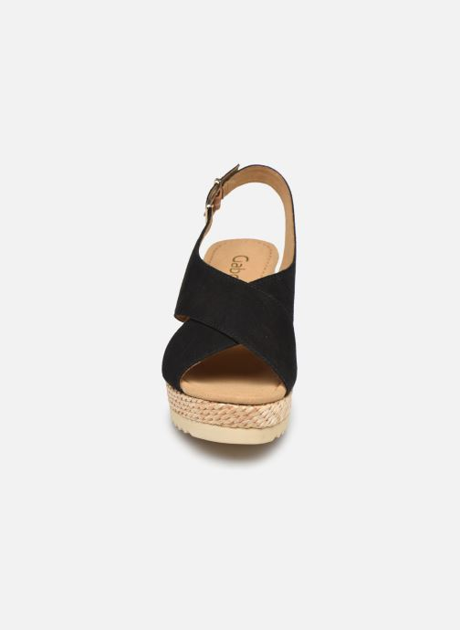 Sandalen Gabor ANKA schwarz schuhe getragen