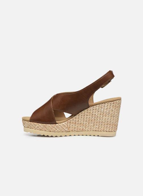 Sandales et nu-pieds Gabor ANKA Marron vue face