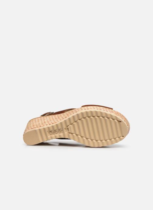 Sandales et nu-pieds Gabor ANKA Marron vue haut