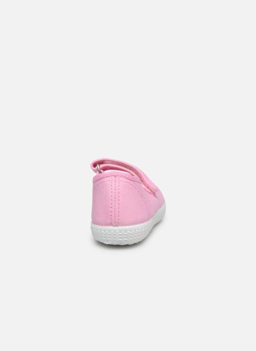 Deportivas I Love Shoes BOSSA Rosa vista lateral derecha