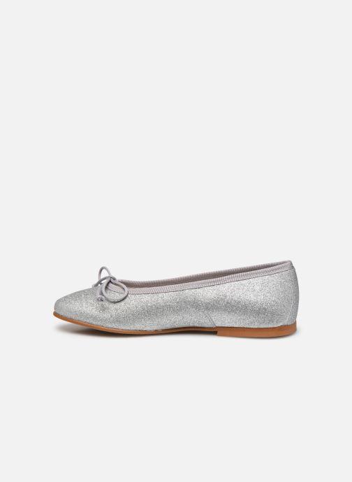 Bailarinas I Love Shoes BORELI GLITTER Plateado vista de frente