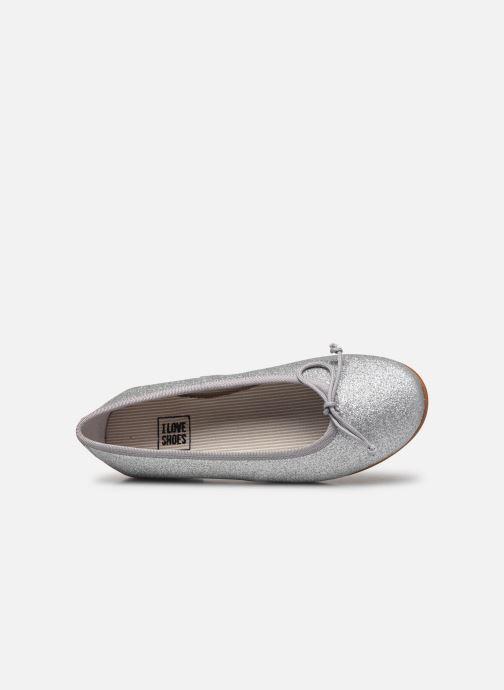 Bailarinas I Love Shoes BORELI GLITTER Plateado vista lateral izquierda