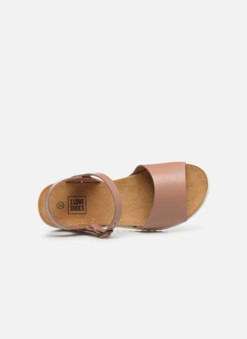 Sandalias I Love Shoes BOSSIL LEATHER Rosa vista lateral izquierda