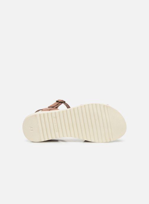 Sandalias I Love Shoes BOSSIL LEATHER Rosa vista de arriba