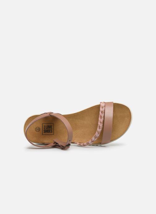 Sandales et nu-pieds I Love Shoes BOTRESS LEATHER Rose vue gauche