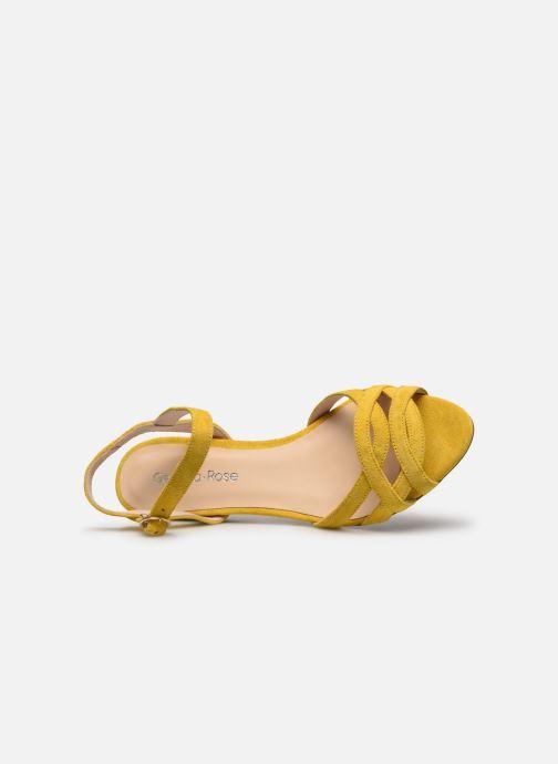 Sandalias Georgia Rose Latira Amarillo vista lateral izquierda