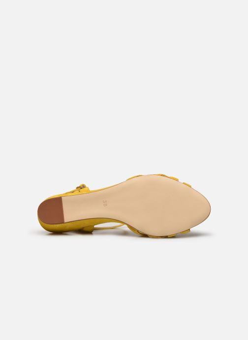 Sandales et nu-pieds Georgia Rose Latira Jaune vue haut