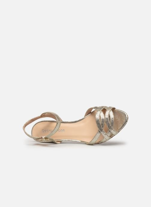 Sandales et nu-pieds Georgia Rose Latira Or et bronze vue gauche