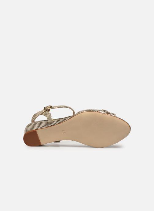 Sandales et nu-pieds Georgia Rose Latira Or et bronze vue haut