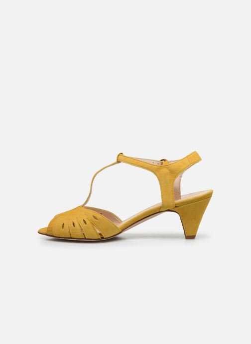Sandales et nu-pieds Georgia Rose Loustina Jaune vue face