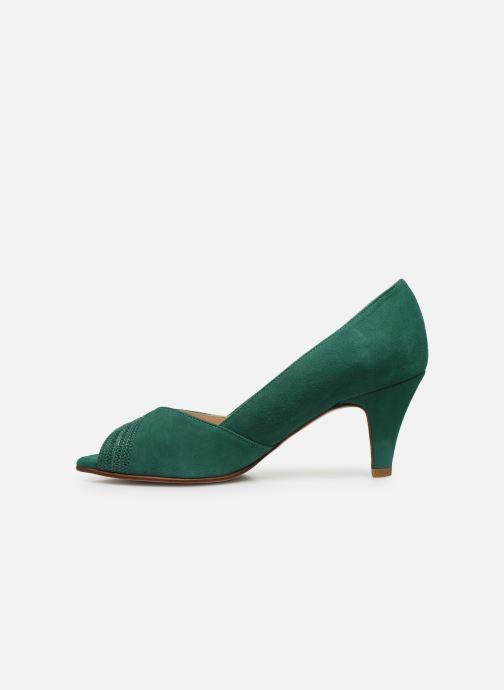 Zapatos de tacón Georgia Rose Lucina Verde vista de frente