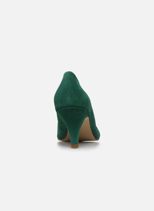 Zapatos de tacón Georgia Rose Lucina Verde vista lateral derecha