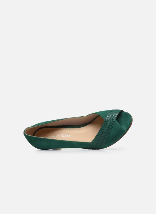 Zapatos de tacón Georgia Rose Lucina Verde vista lateral izquierda