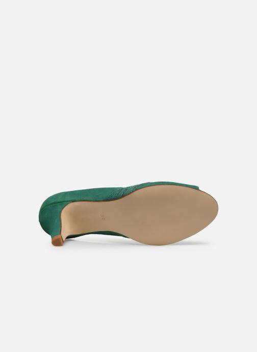 Zapatos de tacón Georgia Rose Lucina Verde vista de arriba
